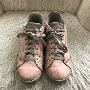 Adidas leather women's pink shoes, size 7,5
